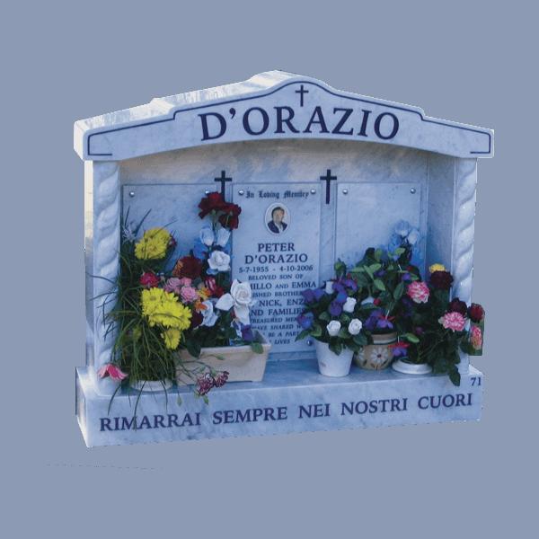 L14 Carrara marble chapel