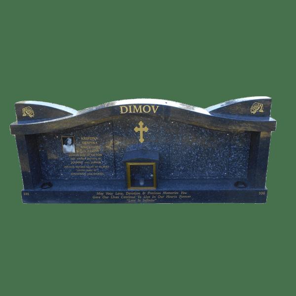 L27 Double chapel Blue pearl granite