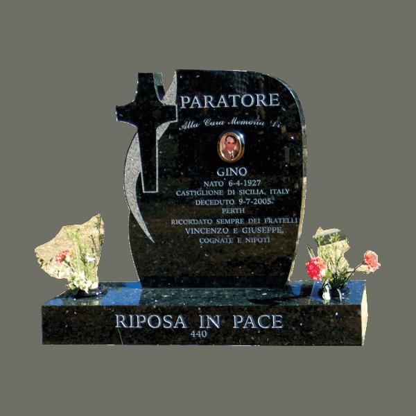 L49 Emerald pearl headstone and base