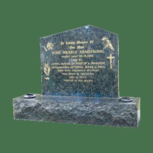L6 Blue pearl granite headstone and base