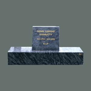 L8 Blue opal headstone and base