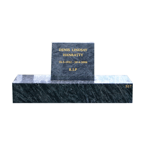 L8 Blue opal headstone and base