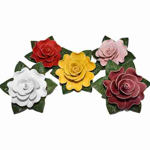 Single Rose Ceramic Flowers