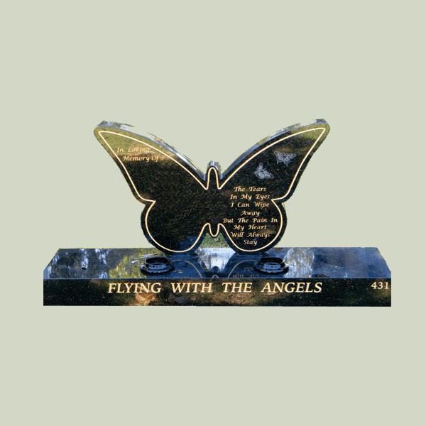 Butterfly Headstone